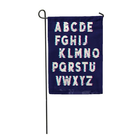NUDECOR Pattern Glitch Displacement Letters Fault Lines Retro Broken Warped Garden Flag Decorative Flag House Banner 28x40 inch - image 1 of 1
