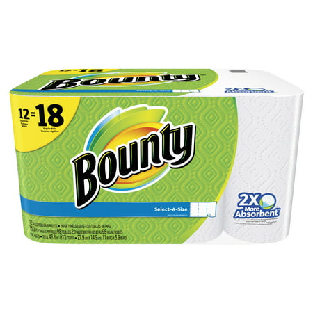 Bounty Paper Towels, Select-A-Size, 12 Giant Rolls ()