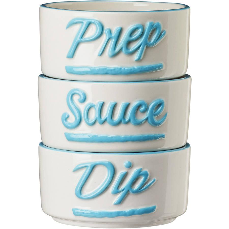 Dixie Kitchen Ramekins Prep Sauce Dip, Set of 3 by Global Amici