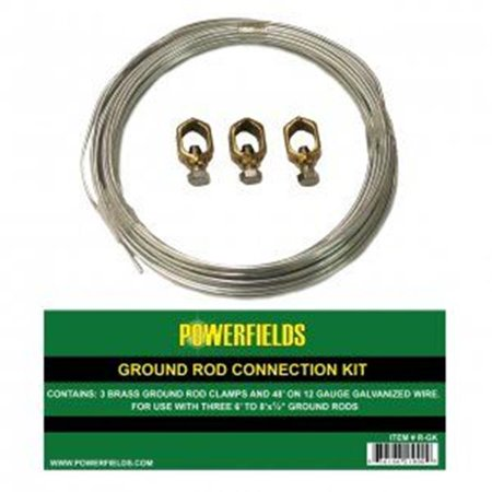 YF 1320838 Ground Rod Connection Kit with 3 Clamps 48 ft Wire