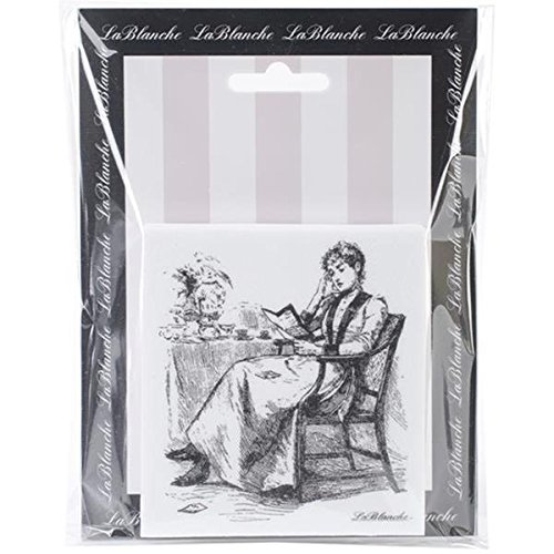 LaBlanche Silicone Stamp, 3.5 by 3.25-Inch, Morning Tea Multi-Colored