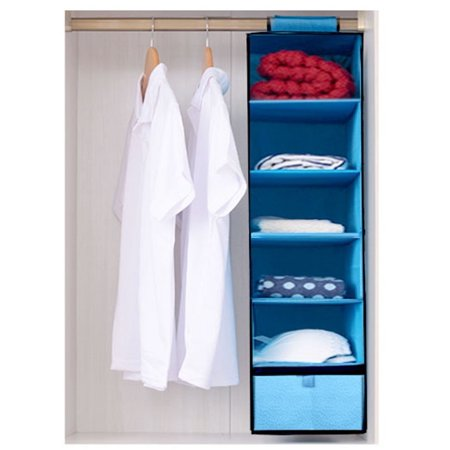 Homefun 5 Shelf Hanging Closet Organizer Friendly Cubby Sweater Handbag Shoe Toys Keep Your Wardrobe In Order Units