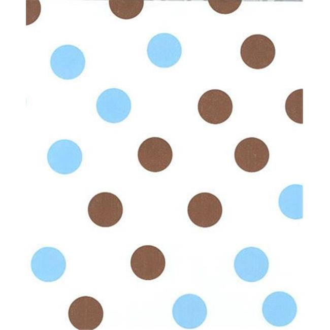 Bags & Bows by Deluxe 11-02-BBD Brown & Blue Dots Tissue Paper - Case of 240