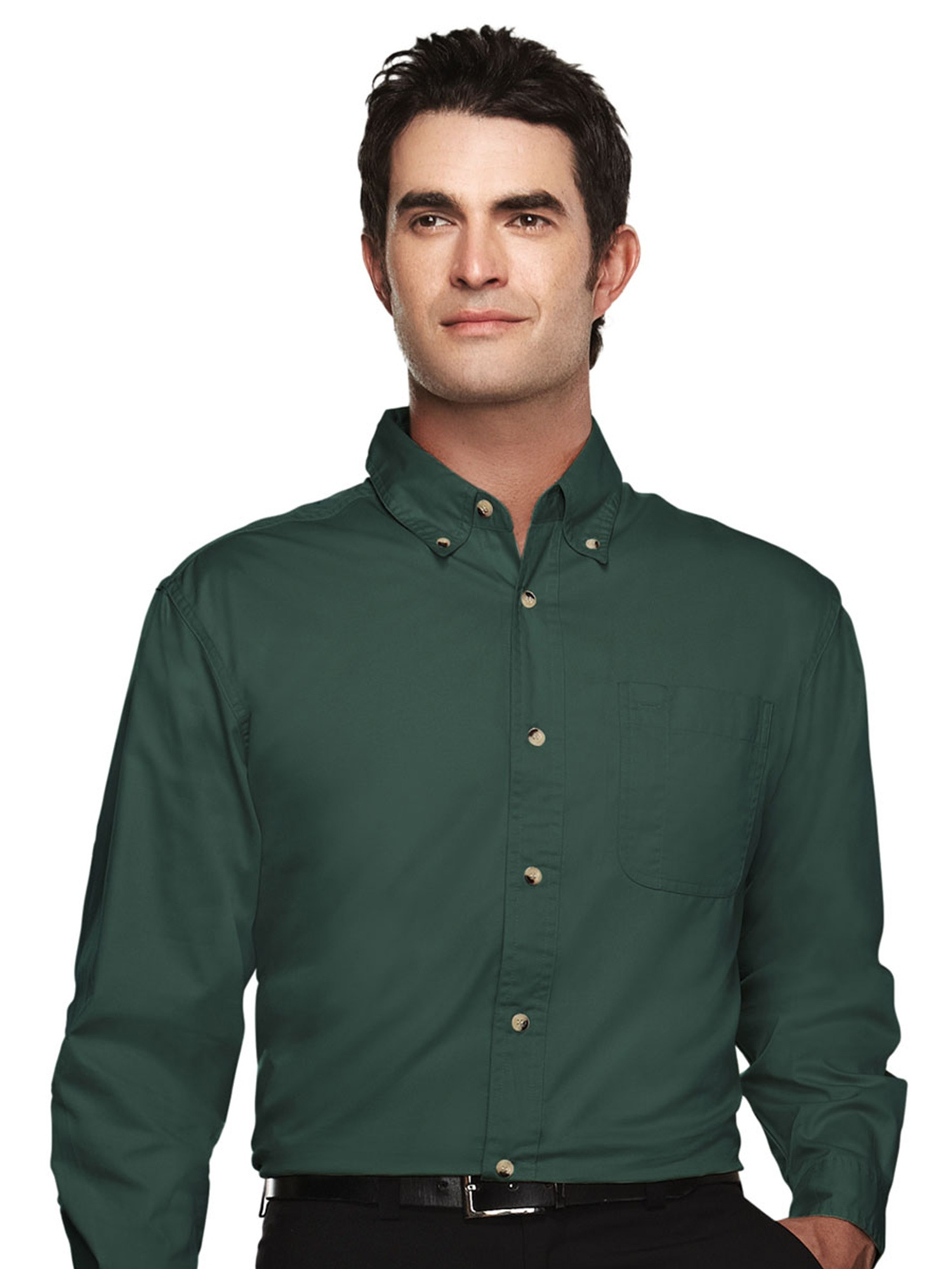 Tri-Mountain Men's Big And Tall Easy Care Twill Dress Shirt