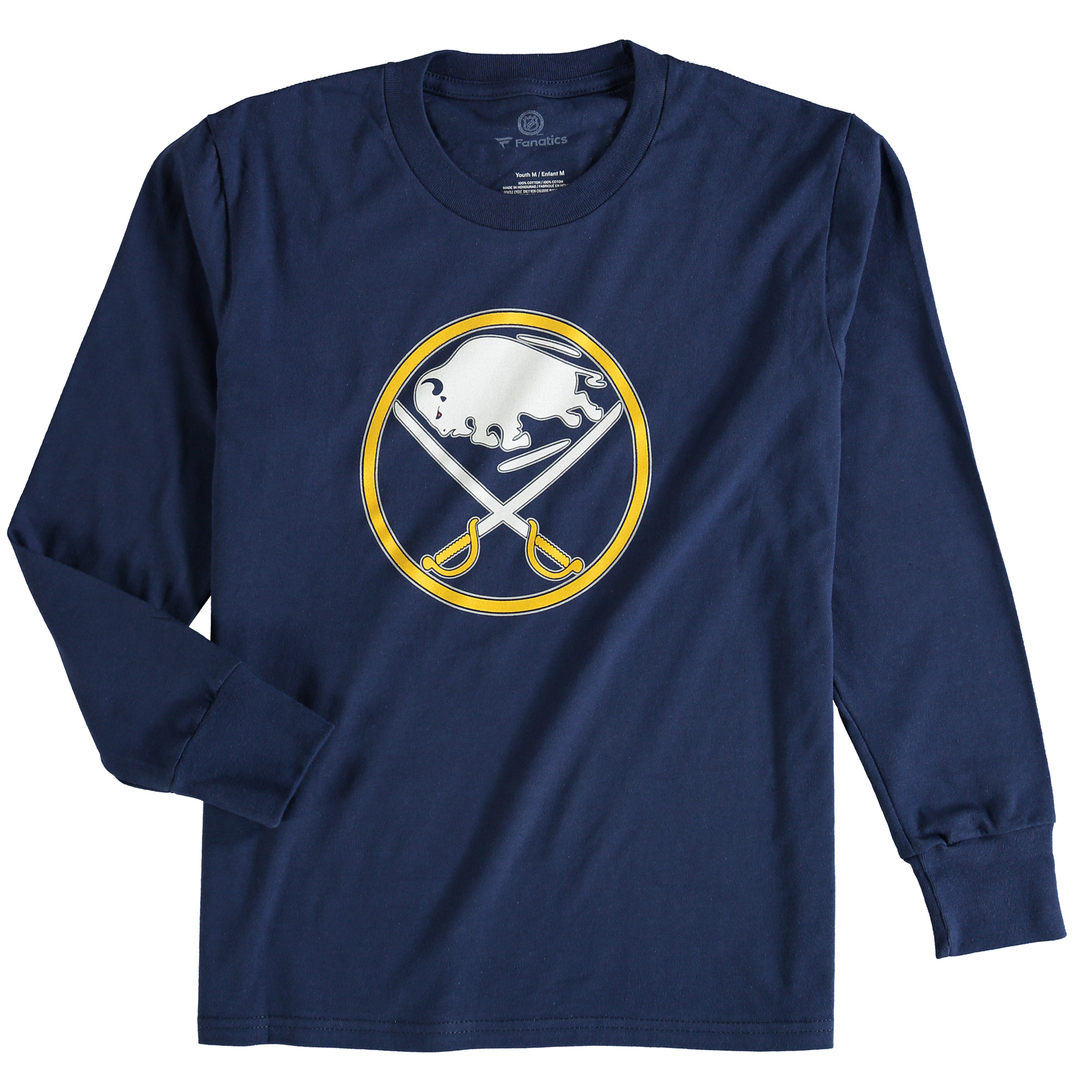 Buffalo Sabres Rinkside Youth Primary Logo Long Sleeve T-Shirt - Navy