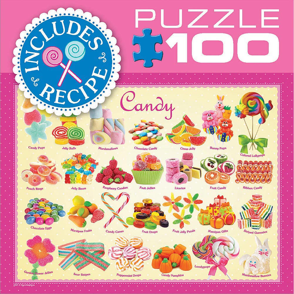Candy 100 Piece Puzzle,  Dessert by Eurographics