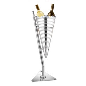 New Cone Shapedd W Champagne Bucket With Stand Stainless Steel Nuvo Accents