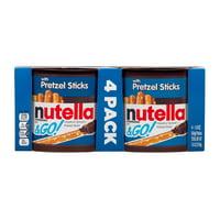 Nutella & Go Snack Packs, Chocolate Hazelnut Spread with Pretzel Sticks, 1.9 Ounce, 4 count