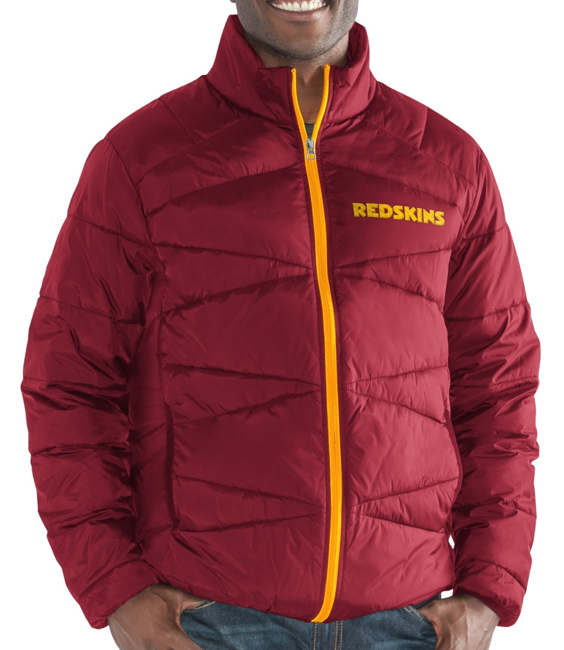 """Washington Redskins Men's NFL G-III """"Blitz"""" F Zip Packable Quilted Jacket w Bag by G-III Sports"""