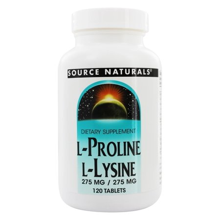 Source Naturals Source Naturals  L-Proline/L-Lysine, 120 (Best Sources Of Lysine)