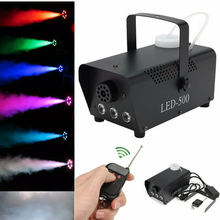 400W Fog Smoke Machine 0.5L Pro RGB LED Wireless Smoke Machine with Remote Control Live Concert DJ Disco Light Club Stage (Just Machine) - Smoke Mechine