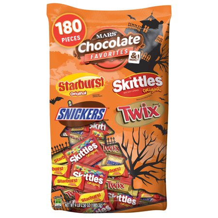 Mars Chocolate, Halloween Candy, Variety Mix, 4 Lb, 180 Ct