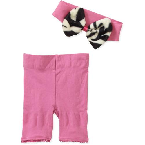 Baby Bella Newborn Baby Girl Fancy Frill Diaper Cover & Headband 2 Pc Set