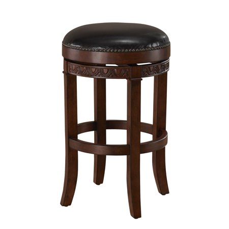 AHB Portofino Swivel Bar Stool - Suede with Merlot Leather