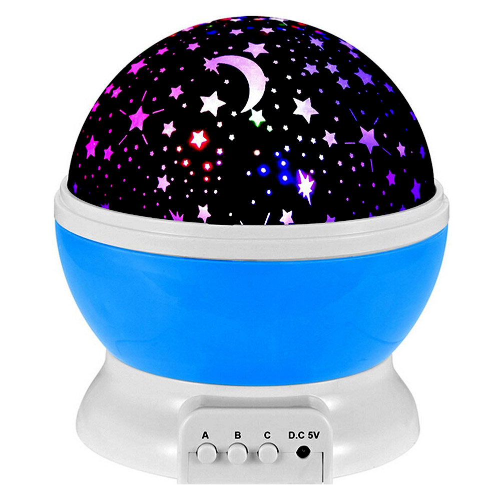 Star projector lamp Peralng Bedroom living room moon And Star Lighting Lamp 4 LED Bead 360 Degree Romantic Room Rotating Cosmos Star Projector