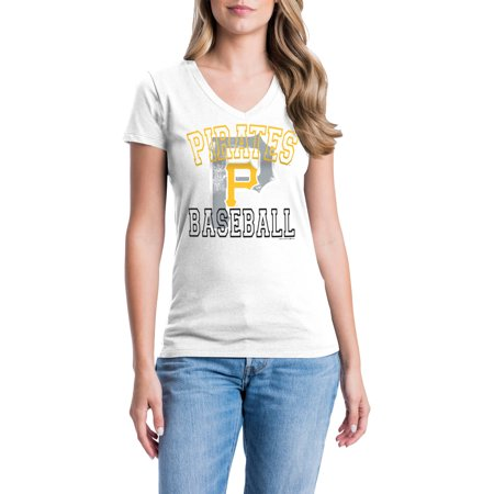 Pittsburgh Pirates Womens Short Sleeve Graphic Tee](Women Pirate)