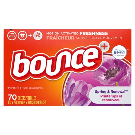 Bounce with Febreze Scent Spring & Renewal Fabric Softener Dryer Sheets, 70 Count ()
