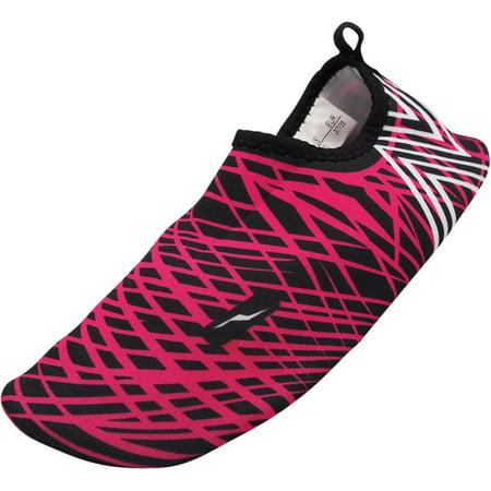 Norty Womens Barefoot Water Skin Shoe Aqua Sock Beach Swim Surf Yoga Exercise, 40666 Fuchsia /