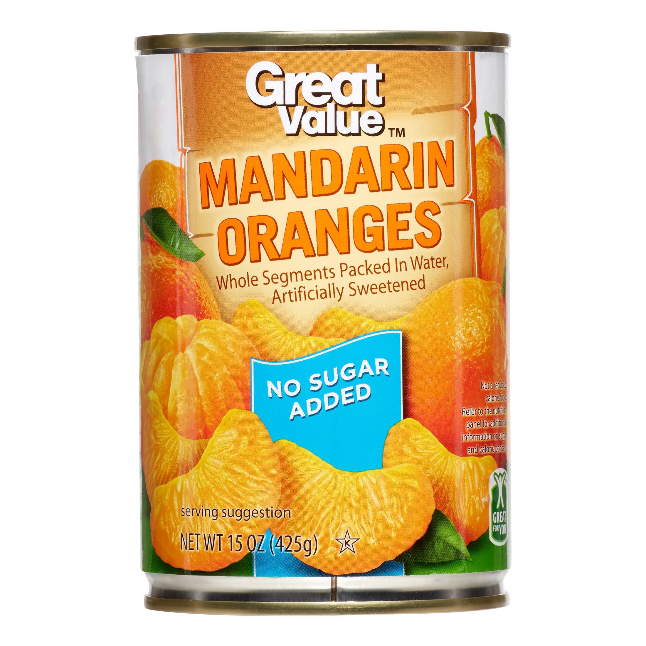 Great Value No Sugar Added Mandarin Oranges, 15 oz