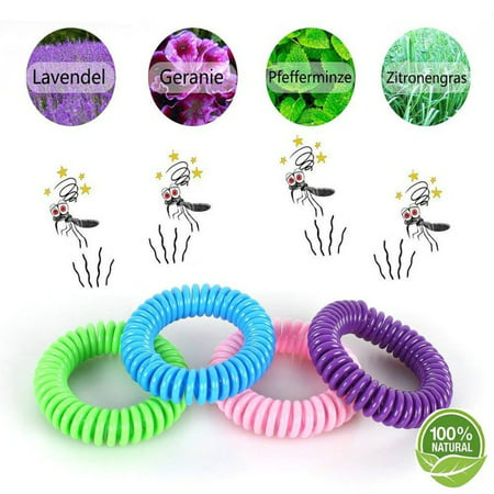 Mosquito Guard Kids Repellent Bands/Bracelets (7 Individually Packed Bands) Made with Natural Plant Based Ingredients - Citronella, Lemongrass Oil and Geraniol