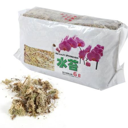 6L Garden Sphagnum Moss Moisturizing Nutrition Organic Fertilizer For Phalaenopsis Orchid, Orchid Sphagnum Moss, Long Fiber Sphagnum
