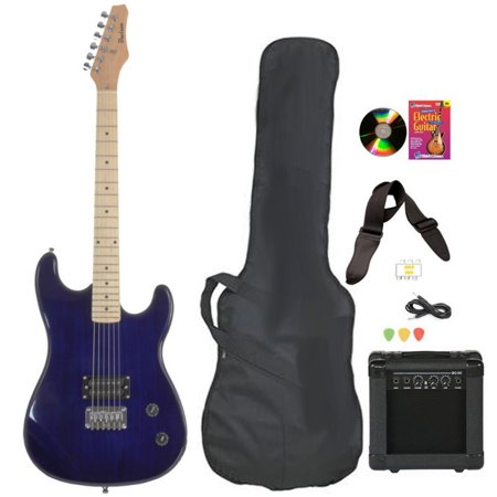 davison guitars electric guitar blue full size with amp case cord picks and dvd. Black Bedroom Furniture Sets. Home Design Ideas