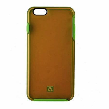 M-Edge Glimpse Hybrid Case for iPhone 6 Plus/6s Plus - Transparent Orange /Green - image 1 of 1