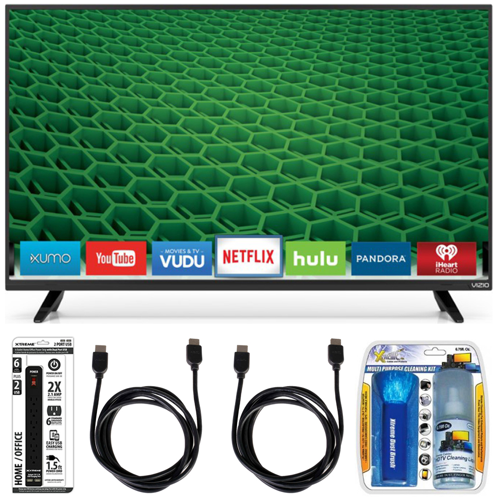 Vizio D32-D1 - D-Series 32-Inch Full-Array Full HD LED Smart TV Accessory Bundle