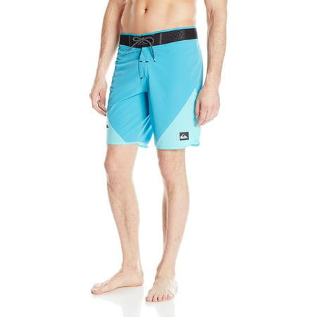 Quiksilver Men's New Wave High 19 Inch Boardshorts Hawaiian Ocean (Silver Swimwear Men)