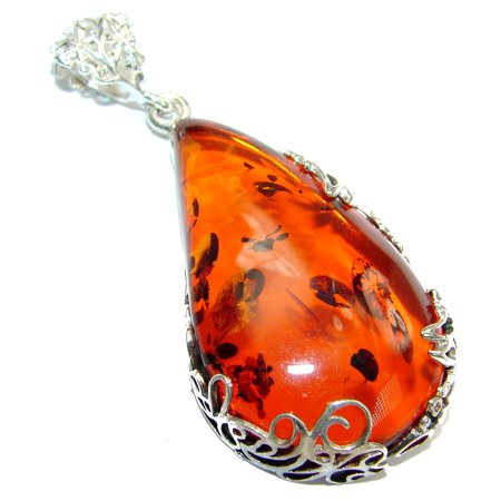 66c9fe3bf SilverRush Style - Natural Baltic Amber .925 Sterling Silver handmade  Pendant by SilverRush Style - Walmart.com