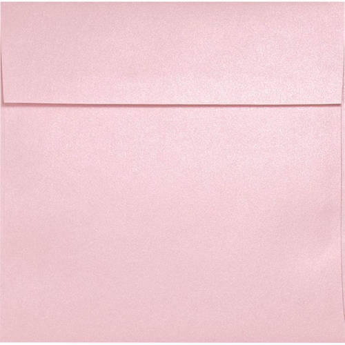 6 1 2 X 6 1 2 Square Invitation Envelopes Rose Quartz Metallic