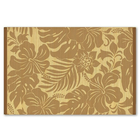 Bamboo Placemat (Hawaiian Style Bamboo Placemat Hibiscus Floral Coffee Set Of)