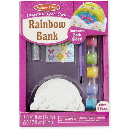 Melissa & Doug Decorate-Your-Own Rainbow Bank Craft Kit (Rainbow Craft)