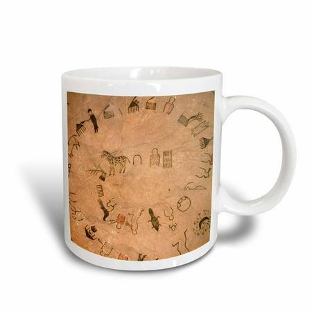 3dRose Lakota Sioux, buffalo robes, Native American - US42 AWY0000 - Angel Wynn, Ceramic Mug, 15-ounce