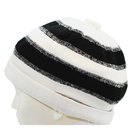 Off White Winter Beanie - Urban Pipeline knit Beanie Fall Winter Spring Hat Black Off White New