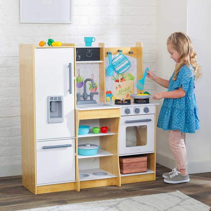 Kidkraft Fresh Harvest Play Kitchen Walmart Com Walmart Com