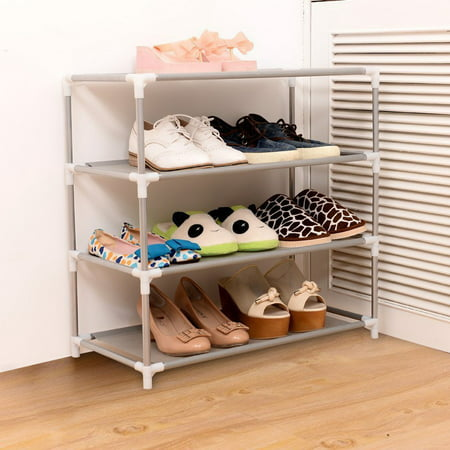 4 5 Tier Diy Shoe Racks Shelf Closet Organizer Free Storage Standing Space Saving Non Woven Large Capacity Furniture Shoes Cabinet Shelf Home