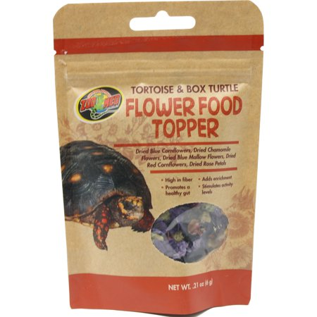 Zoo Med Laboratories Turtle - Zoo Med Laboratories Inc-Tortoise & Box Turtle Flower Food Topper .21 Ounce