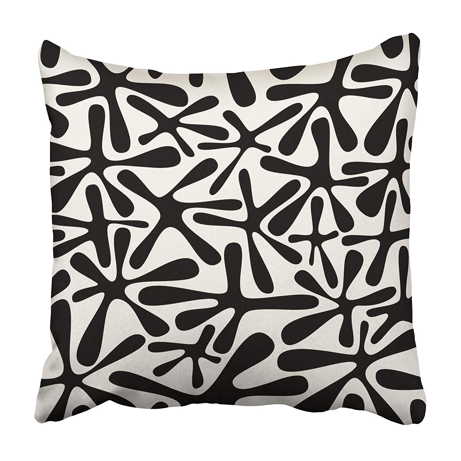 ARHOME Wall with Spots Modern Flower Floral Flourish Graphic Leaf Carpet Pillowcase 18x18 inch