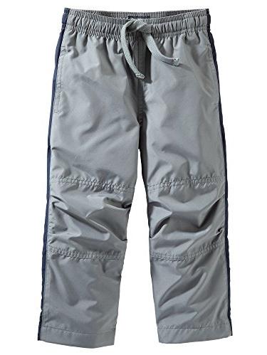 OshKosh B'gosh Little Boys' Mesh-Lined MVP Pants - Grey