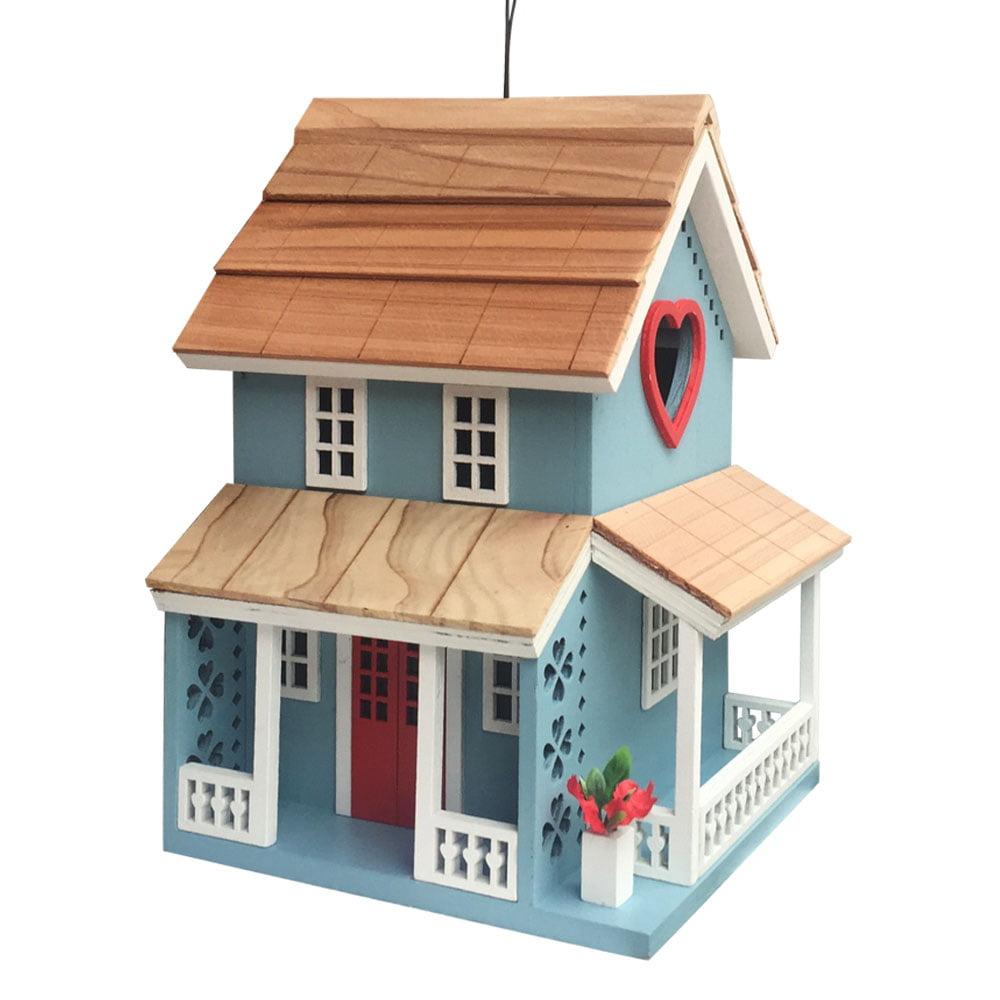 Dollhouse Miniature Birdhouse wi California License Plate Roof BH010C