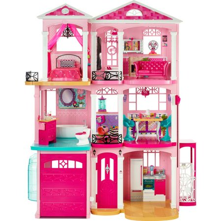 Barbie dreamhouse playset with 70 accessory pieces for Accessory house