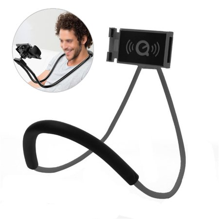 360° Flexible Lazy Hanging on Neck Phone Bracket Holder Desktop Support Mount for Universal Smart Cell Phone