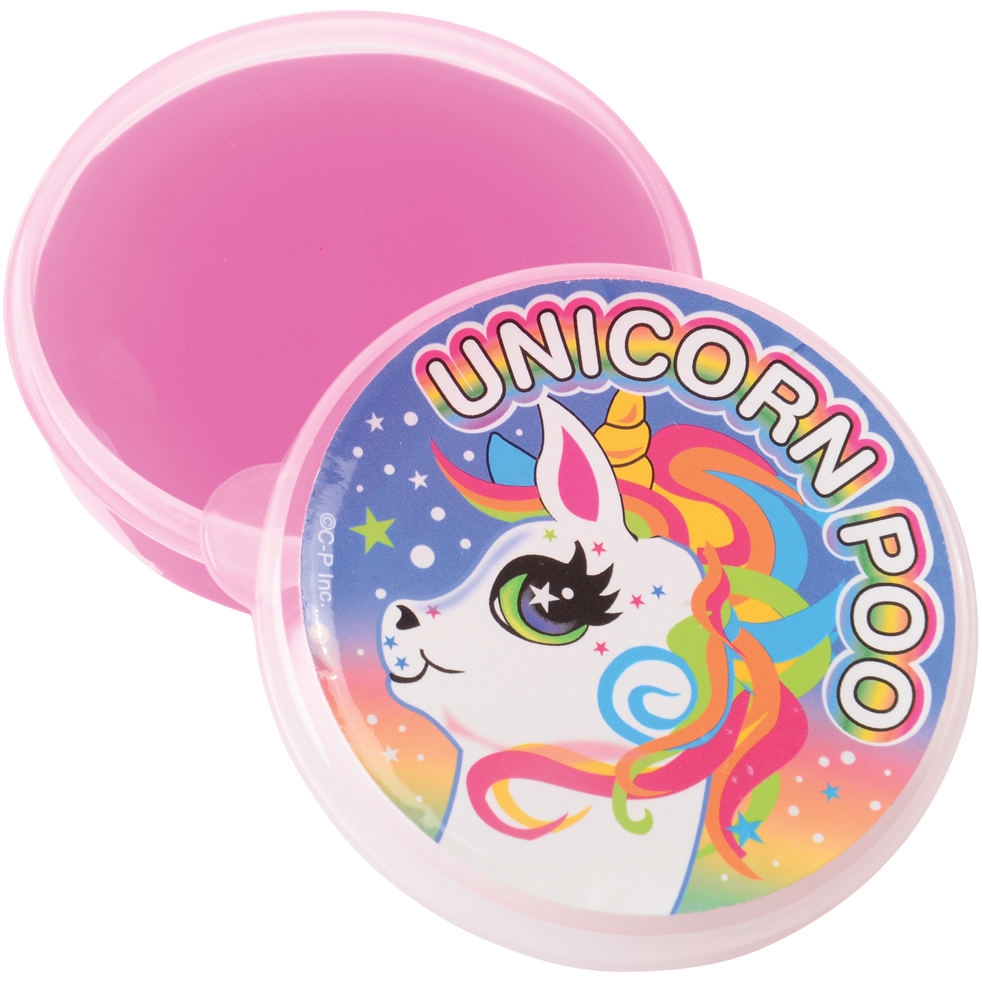 """US Toy Unicorn Poo Sticky Goop Slime Kid Toy 2.375"""" Party Favor, Pink"""