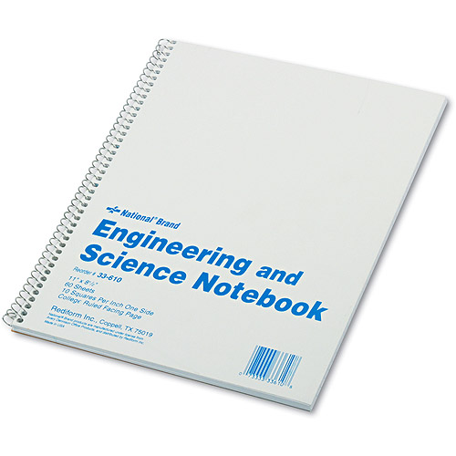 Rediform College Rule Engineering & Science Notebook, White, 60 Sheets/Pad
