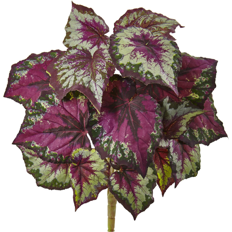 Nearly Natural Wax Begonia Bush, Set of 6