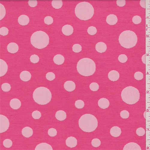 Deep Pink Burnout Twill, Fabric By the Yard