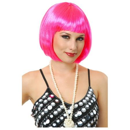 Short Bob Hot Pink Wig - Short Pink Wigs