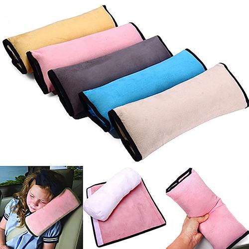 Girl12Queen Safety Kids Car Seat Harness Shoulder Pillow Belt Sleeping Back Soft Cushion Pad