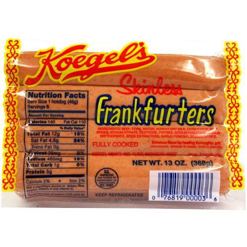Koegel's Skinless Frankfurters, 13 oz